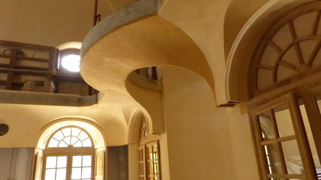 Plâtre teinté en intérieur